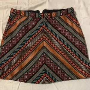 Pattern Woven Miniskirt
